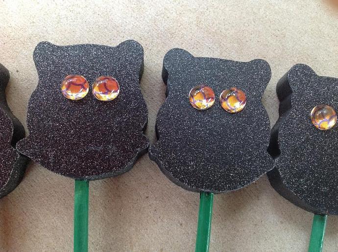 Plant Stakes - Black Owls