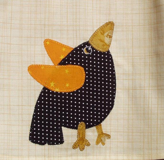 Appliqued Crow A Line Dress Size 12 Months
