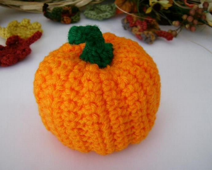 Pumpkin, Handmade Decor for Autumn - Custom Crochet