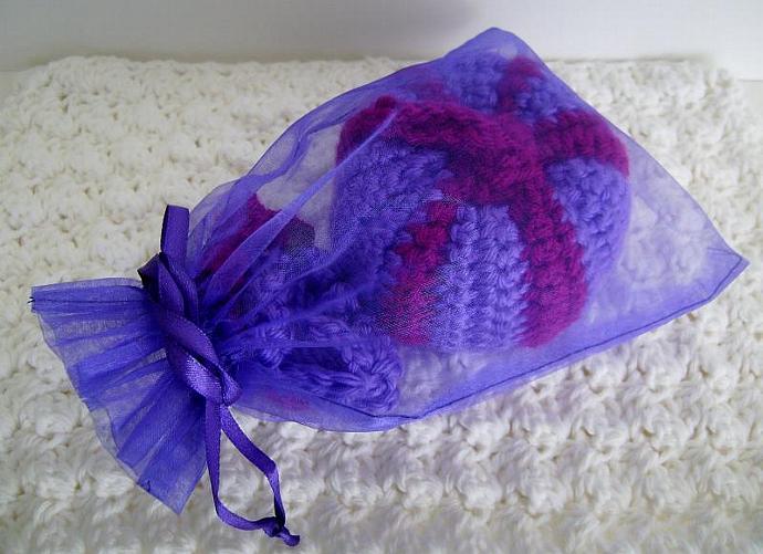 Custom Crochet Pumpkin in Purple and Magenta, Fuchsia