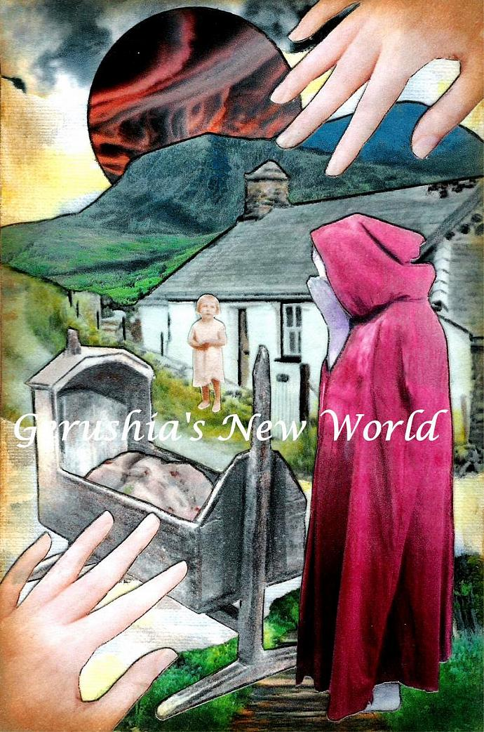 Plentyn Newid - Welsh Changeling Story  ~ Watercolor Collage Print