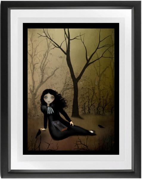 goth girl art, melancholy art, Her Favorite Place