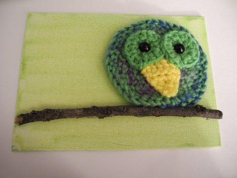 Green and Multi-color Owl Wall Hanging