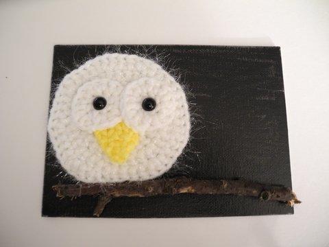 Snowy Moonlight Owl
