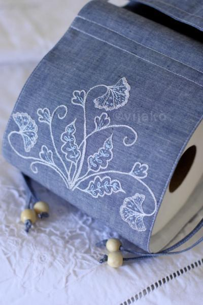 2-roll toilet paper holder, modern Jacobean hand e