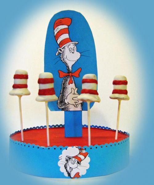 Dr Seuss- Reusable Cake Pop - Cupcakes or Lollipop Stand or Centerpiece