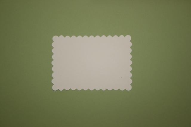 15 small  Light meadow green scalloped mats to make tags mini albums and