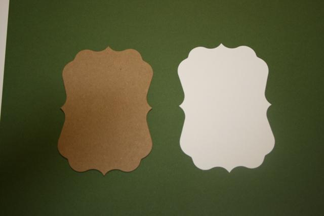 Small  Dark Meadow Green Fancy chipboard and mats to make a mini album CM211