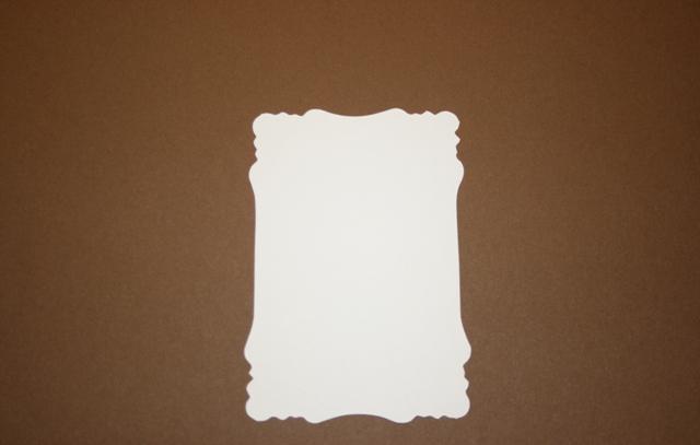 Small Victorian Brown chipboard and mats to make a mini album CM242