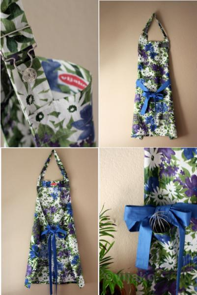 Beautiful floral linen full apron