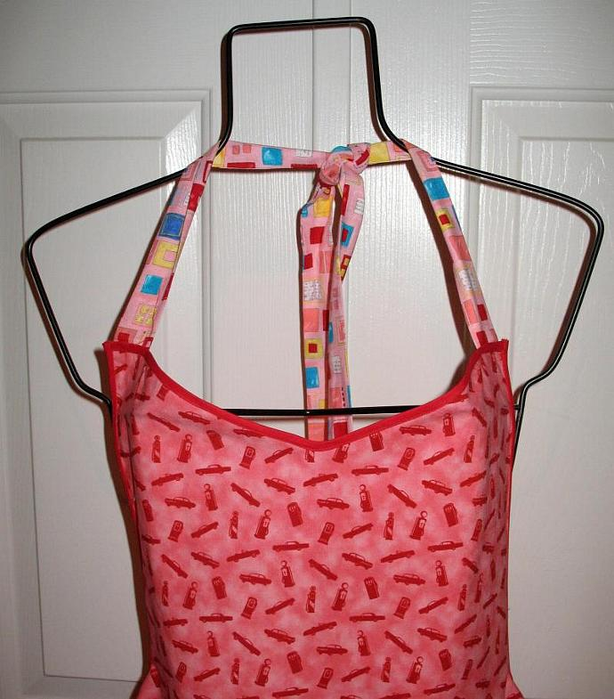GAS PUMP bibbed-style apron