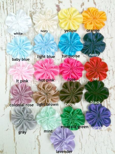 Lot of 21 Satin Flowers, Carrie  - ZIBBET