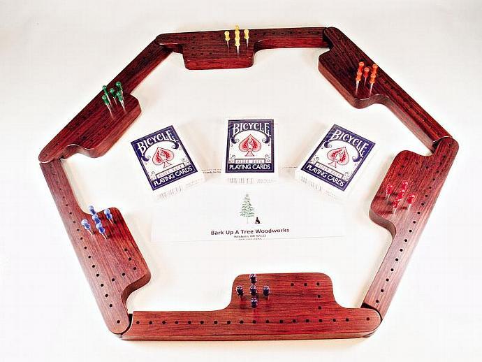 Pegs and Jokers Game Set - Bubinga