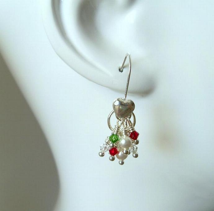 Earrings Christmas Cascade