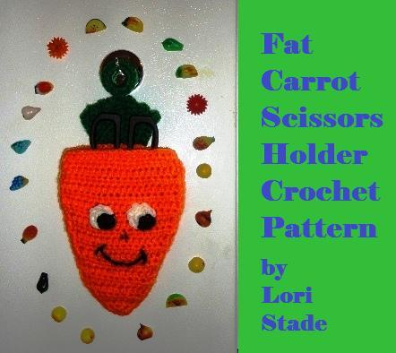 Crochet Pattern Carrot Kitchen Scissors Holder