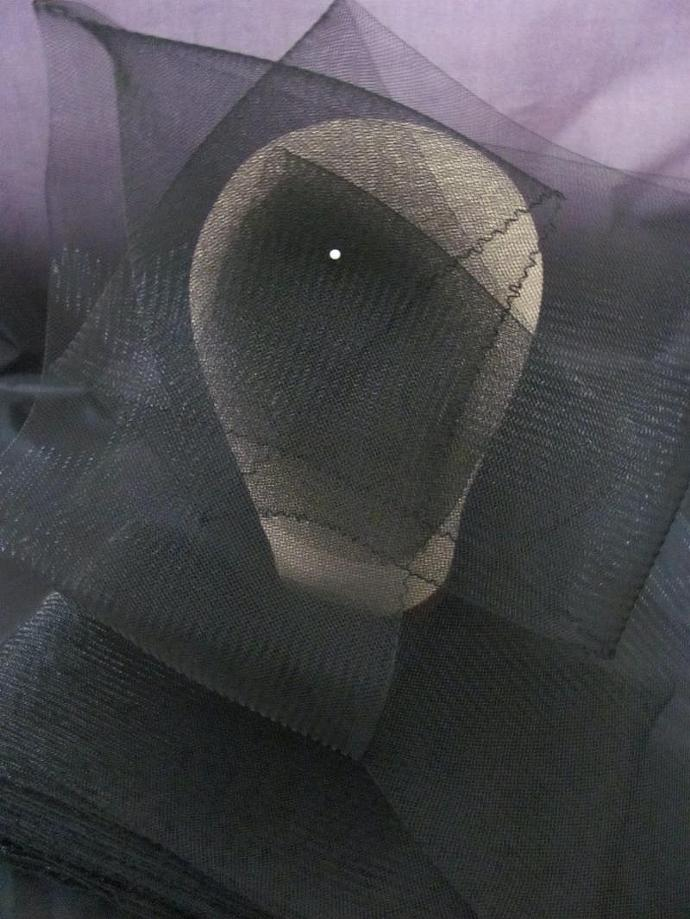10 Yards Black Millinery 6 inch Horsehair Crin Ribbon for hat making fascinators