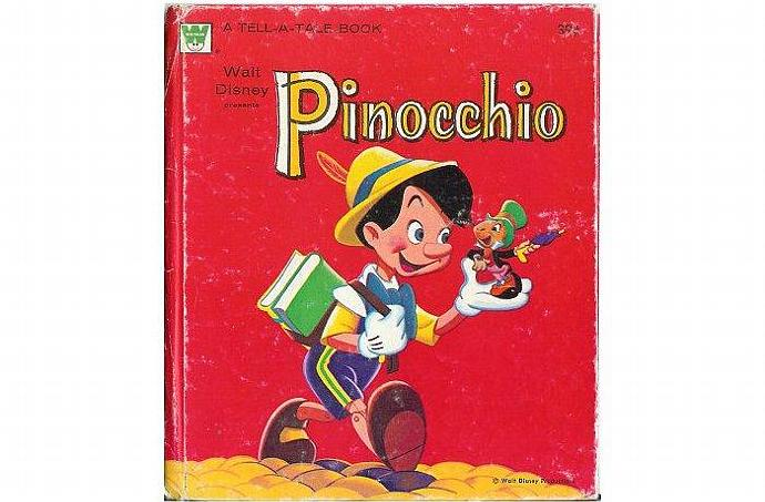 Pinocchio Book Walt Disney Whitman Tell a Tale 1961