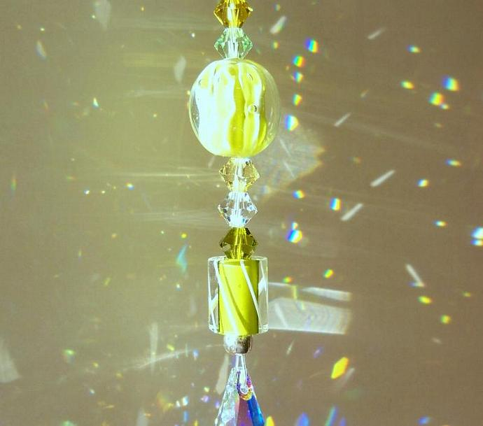 "Sun Catcher Mini - ☼Sparkler☼ -""Lime  Zest"""