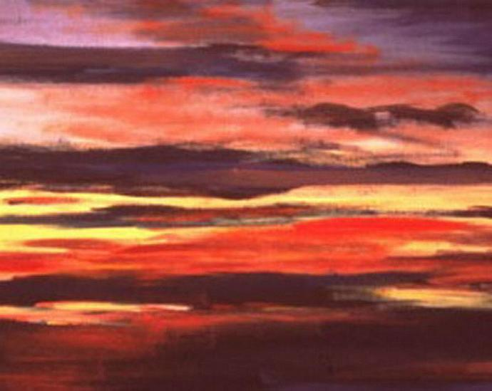 From Sandia (An Abstract Landscape painting)