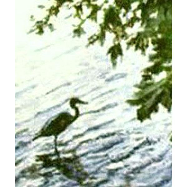 Fishing At Stony Brook (An Original Landscape)