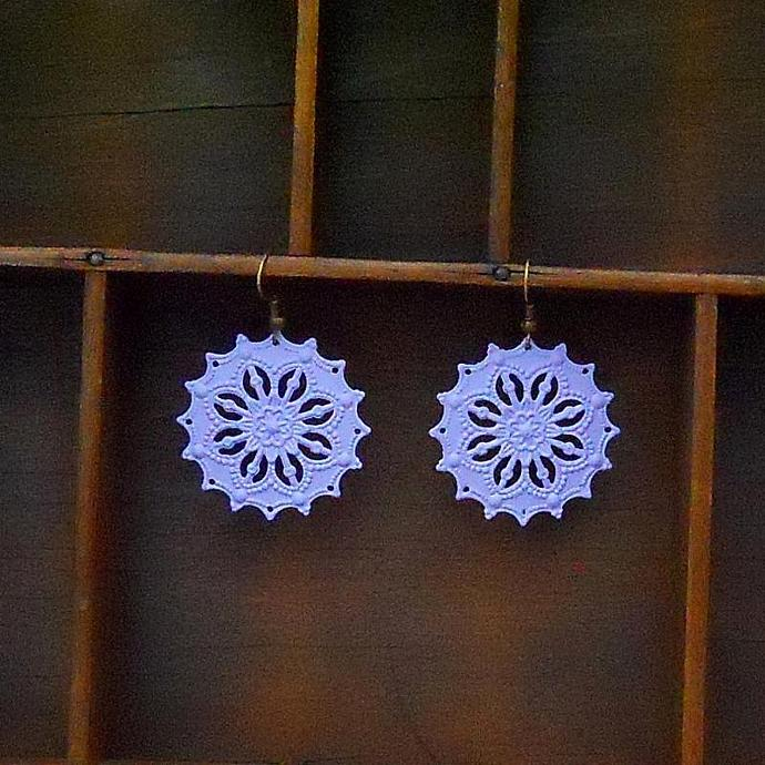 Light Purple Filigree Earrings