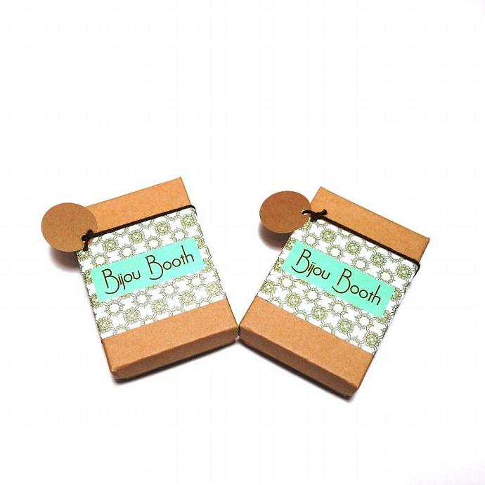 Light Teal Filigree Earrings
