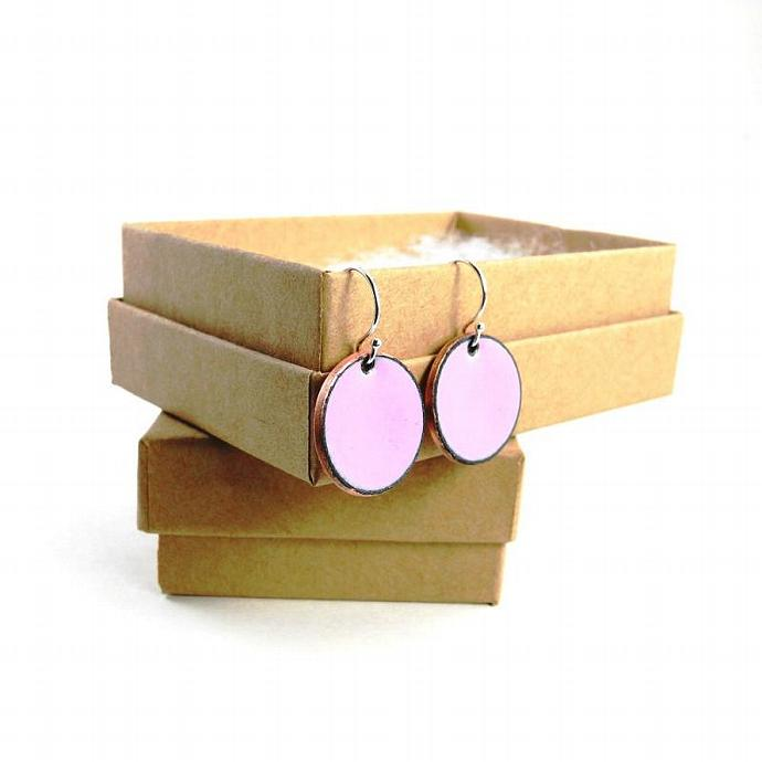 Pink Penny Earrings