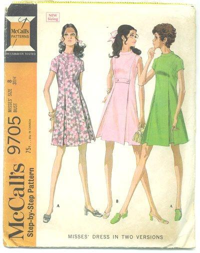 Teen Dress Sewing Pattern 9705 1960s McCalls Sz 8