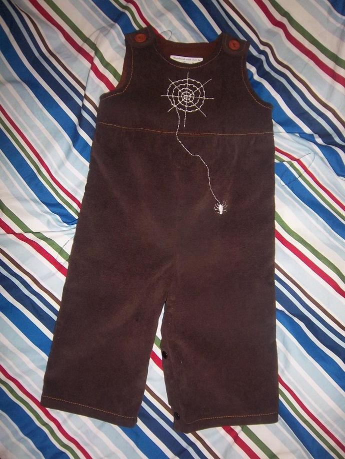 Itty bitty Spider boys overall, PRICE REDUCED 15%