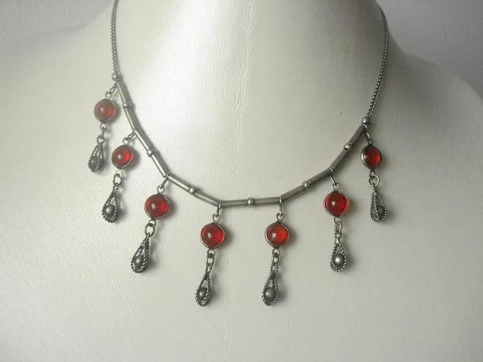 Petite Red Necklace