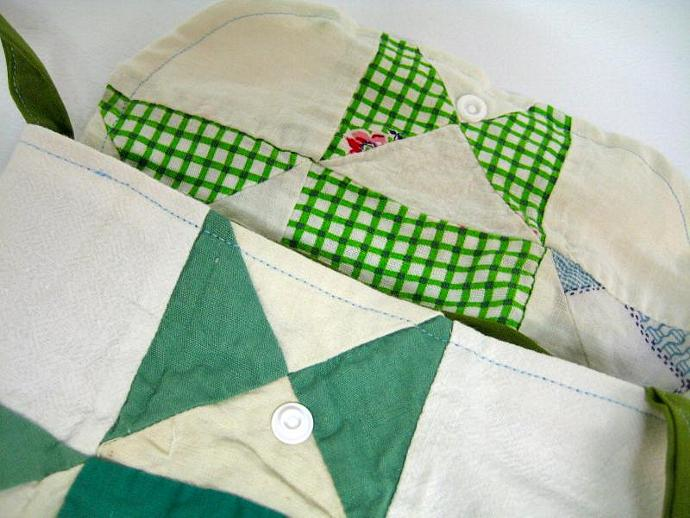 Festival Bag - Green Dream - Shoulder Strap - Quilt Block - Patchwork