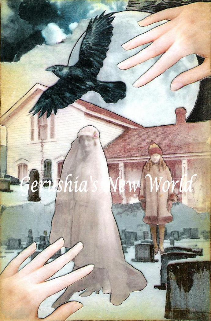 Guardian of Winter's Bride ~ Watercolor Collage Print