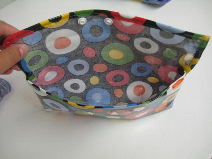 Colourful Circles on Black Wet Bag - Specially Designed for Cloth Menstrual Pads