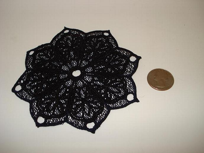Free Standing Lace (FSL) Coaster - Black