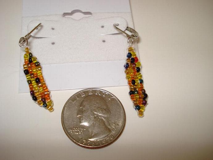 Indian Corn Bead Earrings