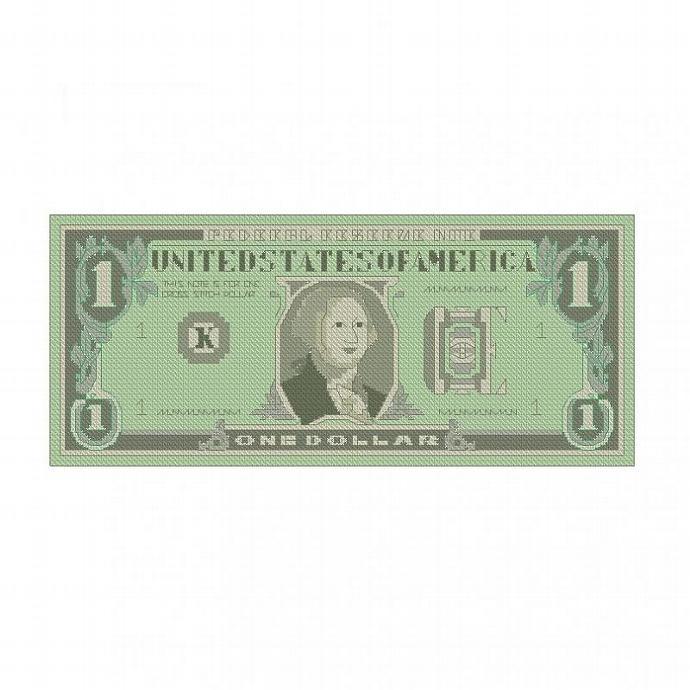 ALL STITCHES - DOLLAR BILL CROSS STITCH PATTERN .PDF -588
