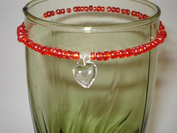 Simple & Sweet Heart  Beaded Bracelet