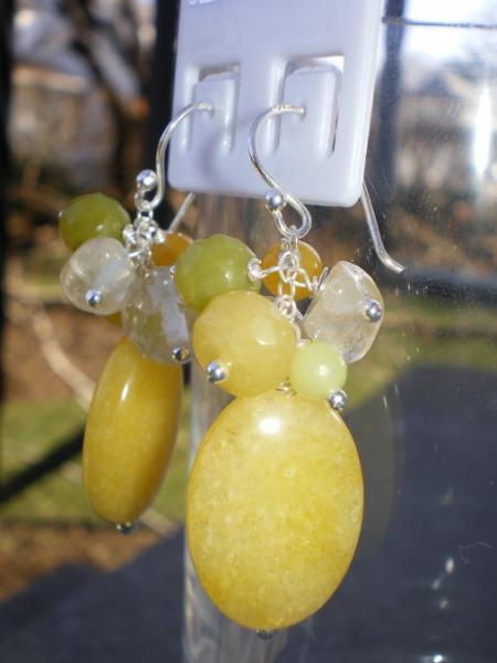 Jade And Citrine Earrings