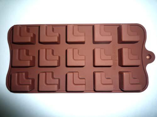 Silicone Stacked L Shaped Tetris Steps Chocolate Candy Ice Soap Candle Mold Pan