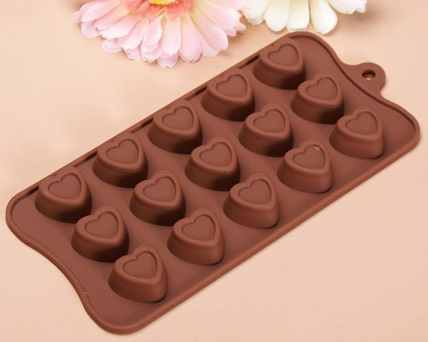 Silicone Heart Shaped Chocolate Candy Jelly Soap Candle Ice Mold Pan Tray