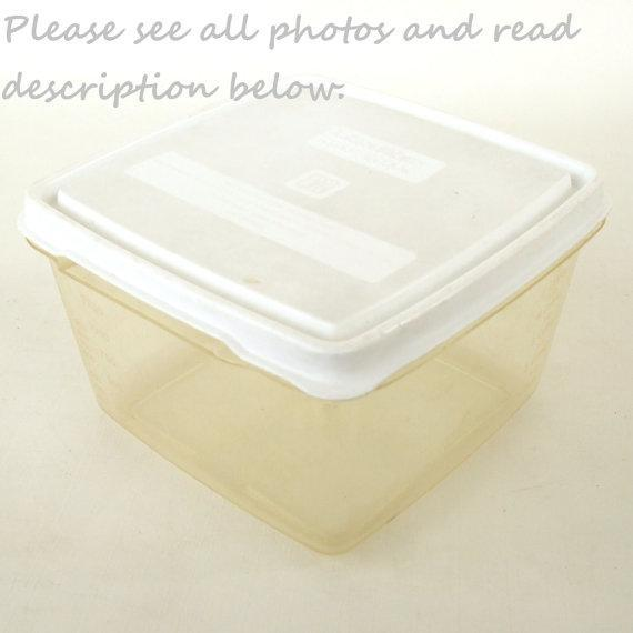 Littonware Store N Cook Freezer Container Litton Ware Square 1.5 Qt