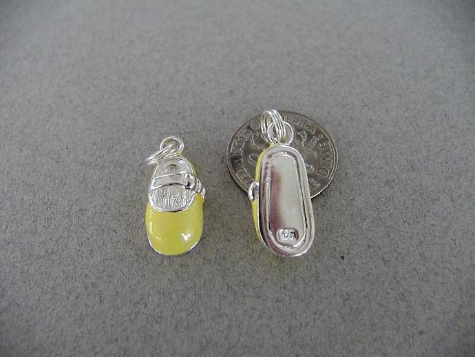 Yellow enamel  Mary Jane Shoe Charm