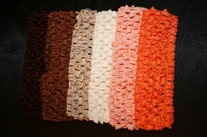 "1.5"" Crocheted headbands"