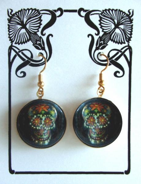 "Black Sugar Skulls Earrings ""Gerald"""