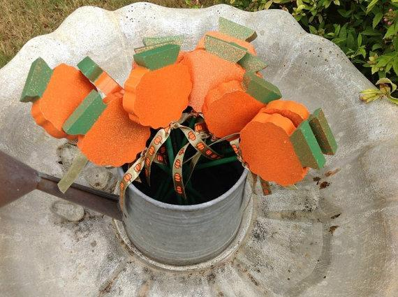 Plant Stakes - Sparkly Pumpkins