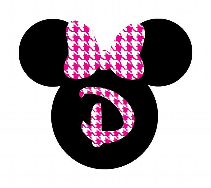 Personalized Houndstooth Minnie DIY Iron on Decal