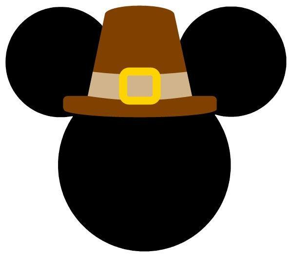 Personalized Thanksgiving Pilgrim Minnie OR Mickey Mouse DIY Iron on Decal