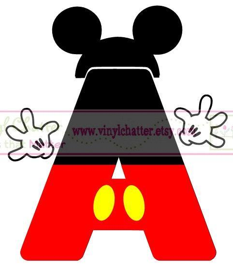 Personalized Mickey Alphabet DIY Iron on Decal