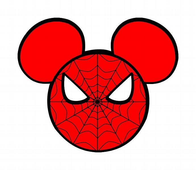Personalized Spiderman Mickey Mouse DIY Iron on Decal
