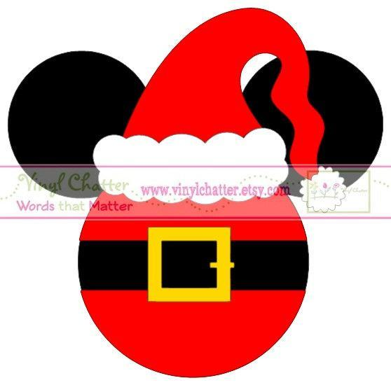 Personalized Santa Mickey with Hat  DIY Iron on Decal